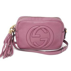 Auth Gucci Soho Disco Camera Crossbody Bag